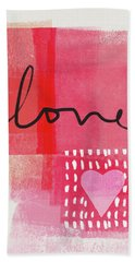 Love Notes- Art By Linda Woods Beach Towel