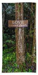Love On A Tree Beach Towel