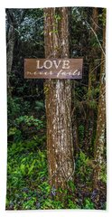 Love On A Tree Beach Sheet