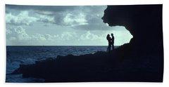 Love On The Rocks Beach Towel
