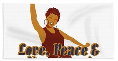 Love Peace And Nappiness Beach Towel