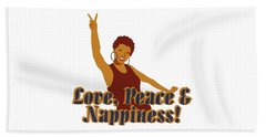 Love Peace And Nappiness Beach Sheet