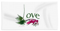 Love Shirt Beach Towel by Ann Lauwers