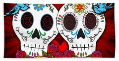 Love Skulls Beach Towel