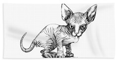 Love Sphynx Beach Sheet