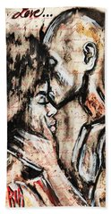Love Story Beach Towel