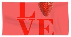 Love Strawberry Beach Towel