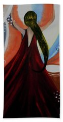 Love To Dance Abstract Acrylic Painting By Saribelleinspirationalart Beach Towel by Saribelle Rodriguez