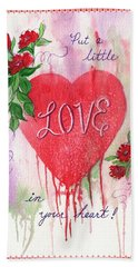 Beach Sheet featuring the painting Love Valentine by Marilyn Smith