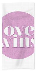 Love Wins Beach Towel