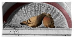 Lovebirds Beach Sheet by Laurel Powell