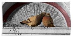 Lovebirds Beach Towel by Laurel Powell