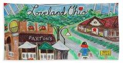 Loveland Ohio Beach Towel by Diane Pape
