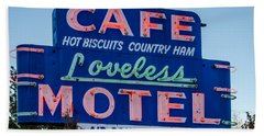 Loveless Cafe And Motel Sign Beach Towel