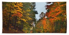 Lovely Autumn Trees Beach Sheet