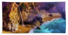 Lovely Big Sur Falls Beach Towel