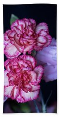 Lovely Carnation Flowers Beach Sheet by Ester Rogers