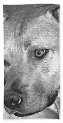 Beach Towel featuring the drawing Lovely Dog by Lucia Sirna