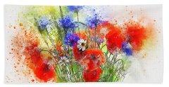 Watercolour Bouquet Beach Sheet