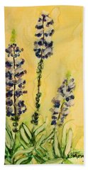 Lovely Lupines Beach Sheet