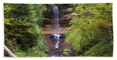Lovely Munising Falls 2 Beach Towel