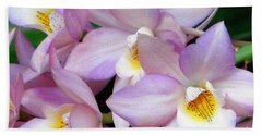 Lovely Orchid Family Beach Towel