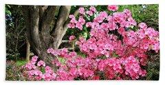 Lovely Pink Azalea Beach Sheet