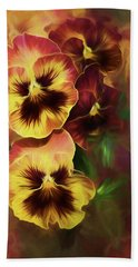Lovely Spring Pansies Beach Towel by Diane Schuster