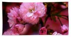 Lovely Spring Pink Cherry Blossoms Beach Towel