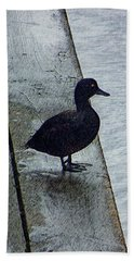 Beach Sheet featuring the digital art Lovely Weather For Ducks by Steve Taylor