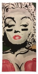 Lover And A Fighter  Beach Towel by Miriam Moran