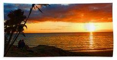 Lovers Paradise Beach Sheet by Michael Rucker