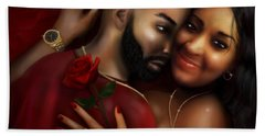 Lovers Portrait Beach Towel