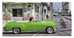 Lovin' Lime Green Chevy Beach Sheet