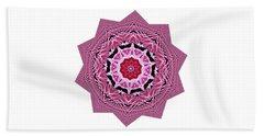 Loving Rose Mandala By Kaye Menner Beach Towel