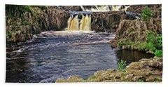 Low Force Waterfall, Teesdale, North Pennines Beach Towel
