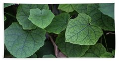 Low Key Green Vines Beach Towel by Jingjits Photography