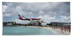 Low Landing At Sonesta Maho Beach Beach Towel