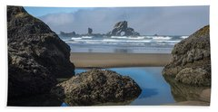 Low Tide At Ecola Beach Towel