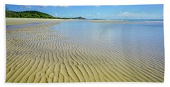 Low Tide Beach Ripples Beach Towel