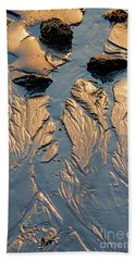Low Tide Flow, Kettle Cove, Cape Elizabeth, Maine  -66557 Beach Towel