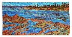 Low Tide Oak Bay Nb Beach Towel