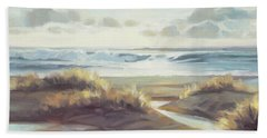Beach Towel featuring the painting Low Tide by Steve Henderson