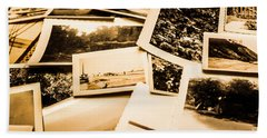 Lowdown On A Vintage Photo Collections Beach Towel