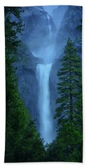 Lower And Middle Yosemite Falls Beach Towel
