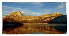 Lower Cathedral Lake Late Afternoon Beach Sheet by Amelia Racca