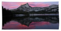 Lower Cathedral Lake Sunset Beach Sheet by Amelia Racca