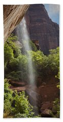Lower Emerald Pool Falls In Zion Beach Sheet