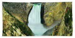 Lower Falls No Border Or Caption Beach Towel
