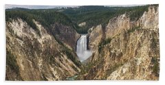 Lower Falls Of The Yellowstone Beach Towel